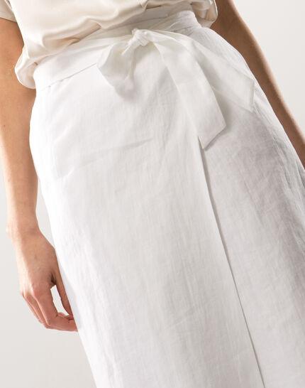 Dahalia white linen skirt (5) - 1-2-3