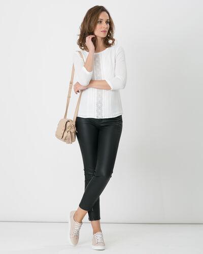 Pantalon 7/8ème noir enduit Pia (1) - 1-2-3