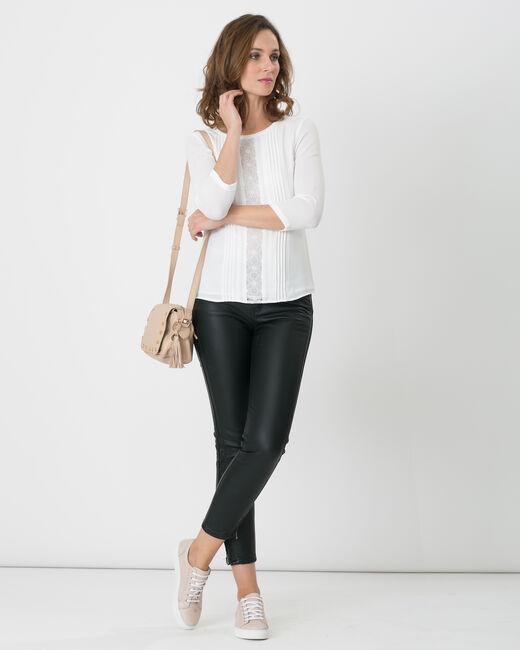 Pantalon 7/8ème noir faux cuir Pia (1) - 1-2-3