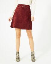 Diapo burgundy leather skirt bordeaux.