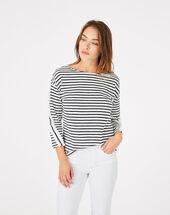 Babord striped cotton t-shirt navy.
