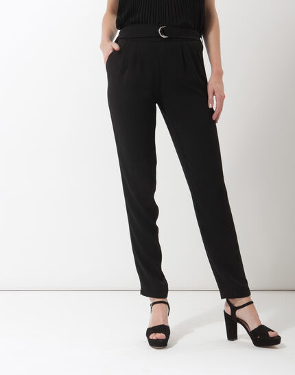 Douguy black tapered cut trousers PhotoZ | 1-2-3