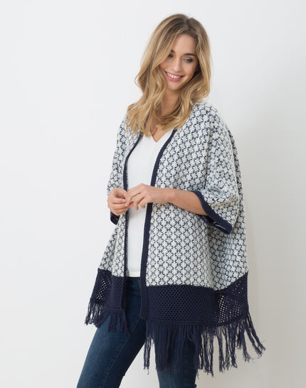 Hibiza blue printed cape PhotoZ | 1-2-3
