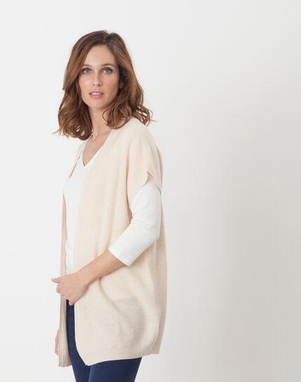 Himalaya beige cape-style cardigan (3) - 1-2-3