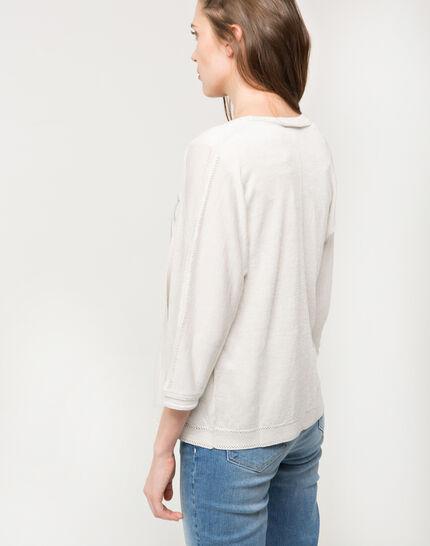 Hirondelle beige knitted jacket (3) - 1-2-3