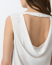 Tania ecru top with open back ecru.