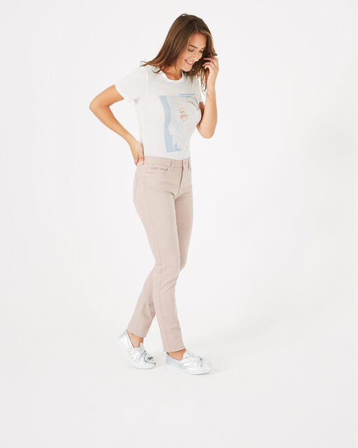 Pantalon slim rose pâle William (2) - 1-2-3