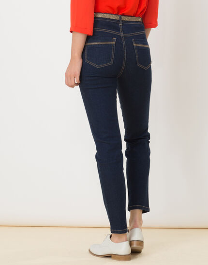 7/8 length raw-look jeans with golden belt (3) - 1-2-3
