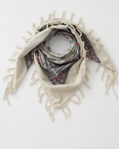 Souad cotton grey printed scarf (1) - 1-2-3