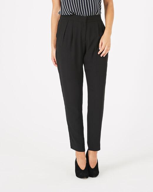 Pantalon noir en crêpe Daria (2) - 1-2-3