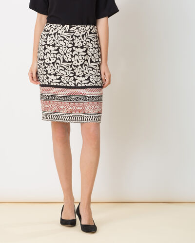 Dylane black and white printed skirt (1) - 1-2-3