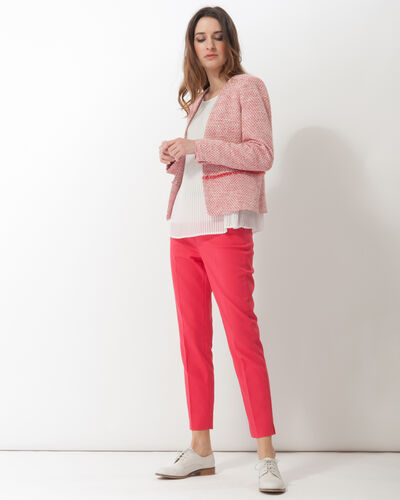 Pauline smart pink trousers with belt (1) - 1-2-3