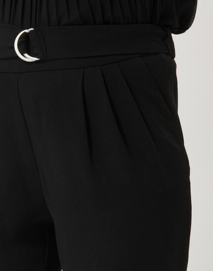 Pantalon noir coupe carotte Douguy (2) - 1-2-3