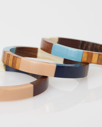 Woody bracelets in wood (2) - 1-2-3