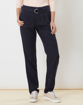 Darcy blue flowing trousers dark indigo.