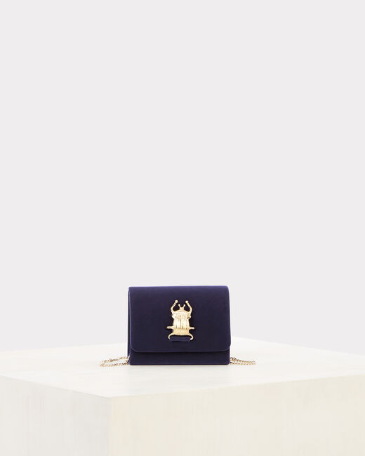 Ritchie blue velvet clutch bag (1) - 1-2-3