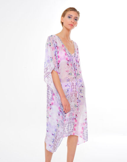 Sally fuchsia printed kaftan PhotoZ | 1-2-3