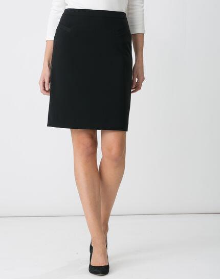 Jackie black tailored skirt (2) - 1-2-3