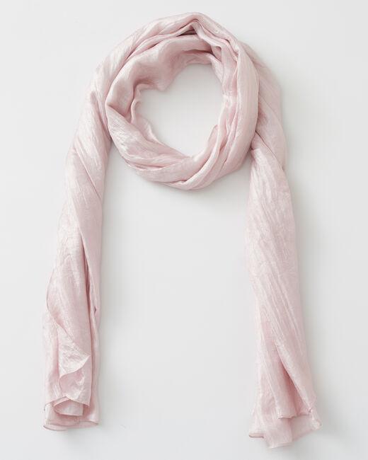 Foulard rose pâle Soyeuse (1) - 1-2-3