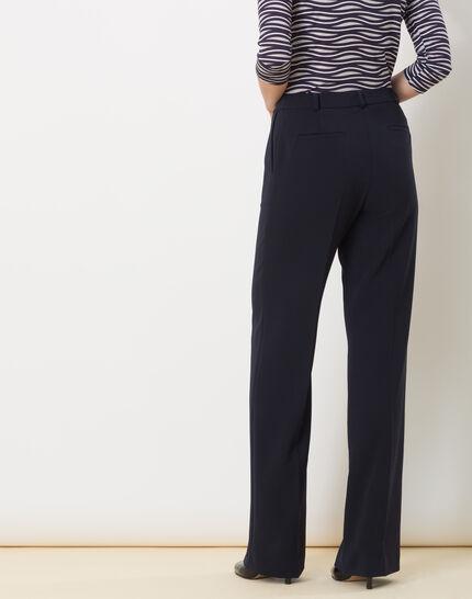 Pepin bis navy blue wide-cut trousers (4) - 1-2-3