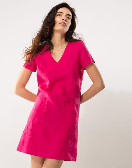 Bisou fuchsia linen dress PhotoZ | 1-2-3