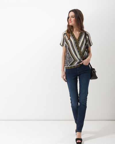 Alix printed wrap-over shirt (2) - 1-2-3