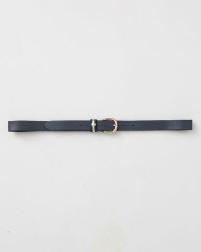 Yonka fine navy blue leather belt (1) - 1-2-3