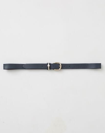Yonka fine navy blue leather belt (2) - 1-2-3