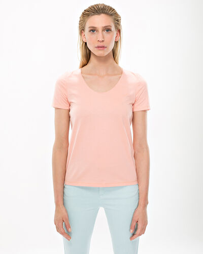 Tee-shirt abricot Noon (1) - 1-2-3