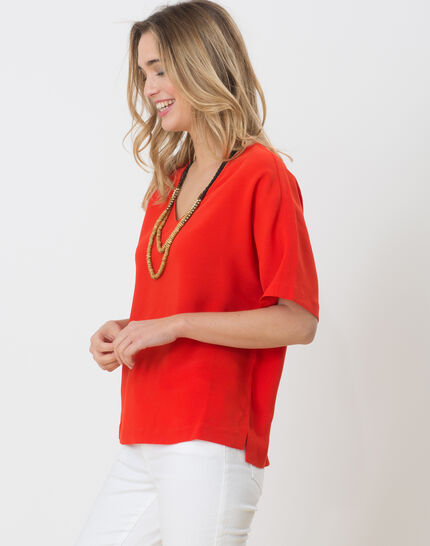 Ellen red shirt with necklace (3) - 1-2-3