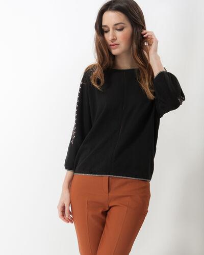 Tee-shirt noir imprimé Highway (1) - 1-2-3