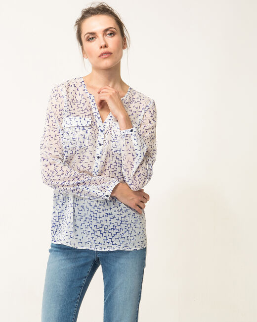 Murielle striking royal blue blouse (1) - 1-2-3