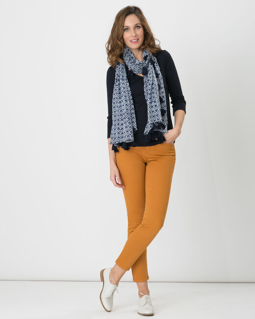 Oliver 7/8th length ochre trousers (1) - 1-2-3