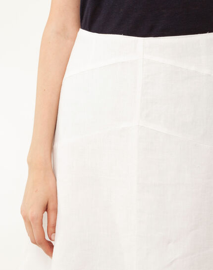 Clairon white linen skirt (4) - 1-2-3