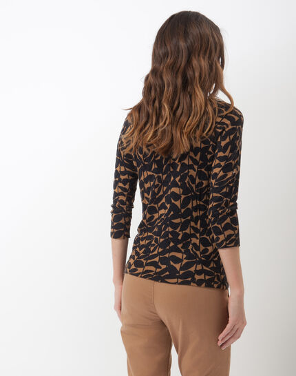 Hibiscus animal print T-Shirt with jewelled neckline (4) - 1-2-3