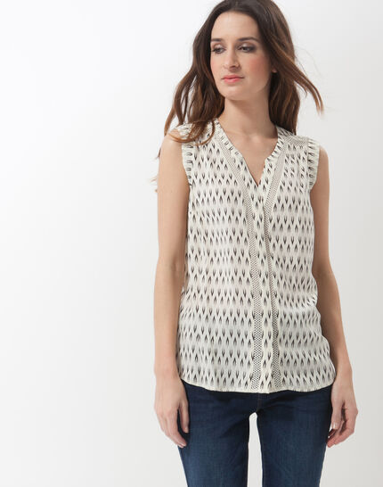 Edwood printed sleeveless blouse PhotoZ | 1-2-3