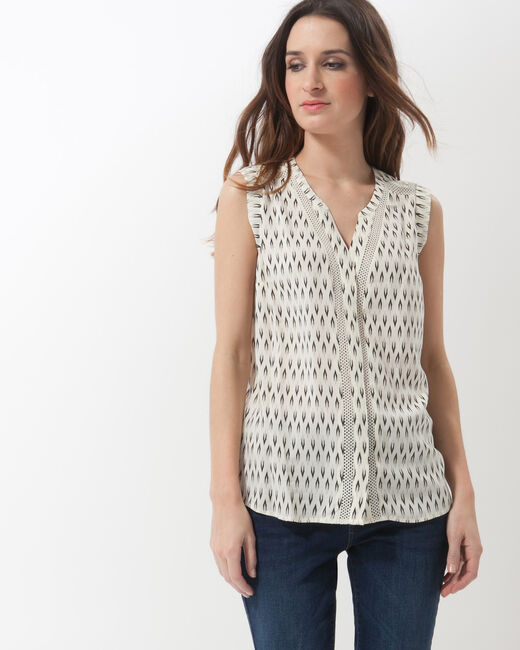 Edwood printed sleeveless blouse (1) - 1-2-3