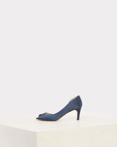 Jasmine open-toed navy blue pumps (1) - 1-2-3
