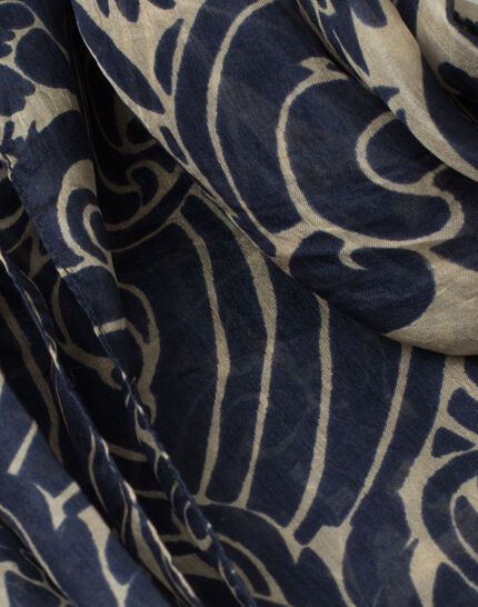 Scarlett silk printed scarf PhotoZ | 1-2-3
