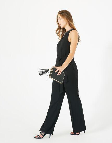 Carly black jumpsuit with Swarovski-embellished neckline PhotoZ | 1-2-3