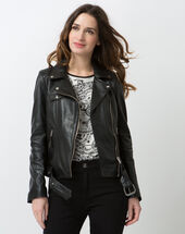 Gabriel black leather jacket black.