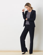 Maite belted navy blue jacket navy.