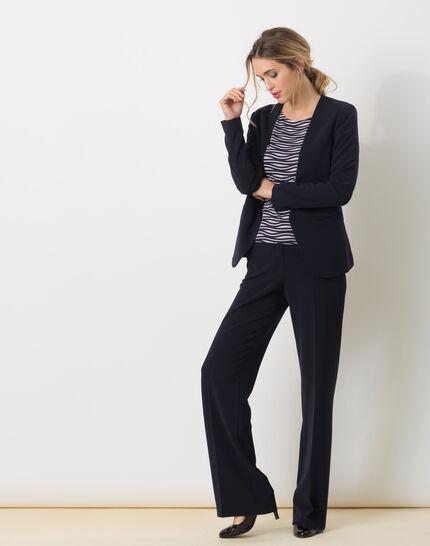 Maite belted navy blue jacket (2) - 1-2-3