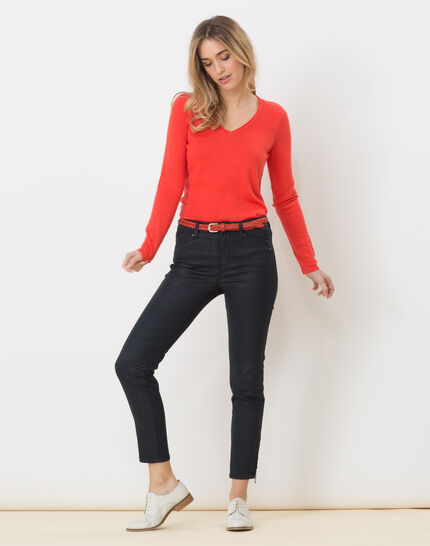 Honorine coral sweater with long sleeves (5) - 1-2-3