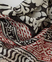 Silly red printed scarf in cotton PhotoZ | 1-2-3