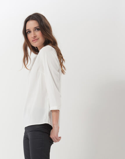 Fabien ecru blouse with necklace (3) - 1-2-3