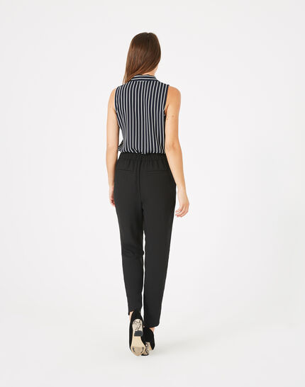 Daria black crepe trousers (4) - 1-2-3