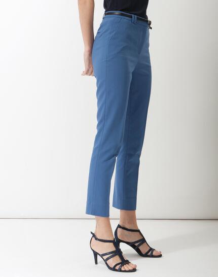 Pauline smart blue trousers with belt (3) - 1-2-3