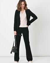 Nadège straight-cut black trousers black.