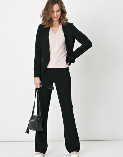 Nadège straight-cut black trousers (2) - 1-2-3